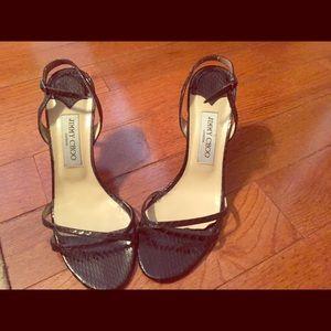 jimmy choo sandals-used but plenty of wear left
